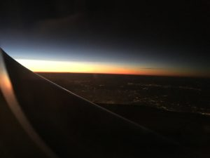 over the atlantic paris flight